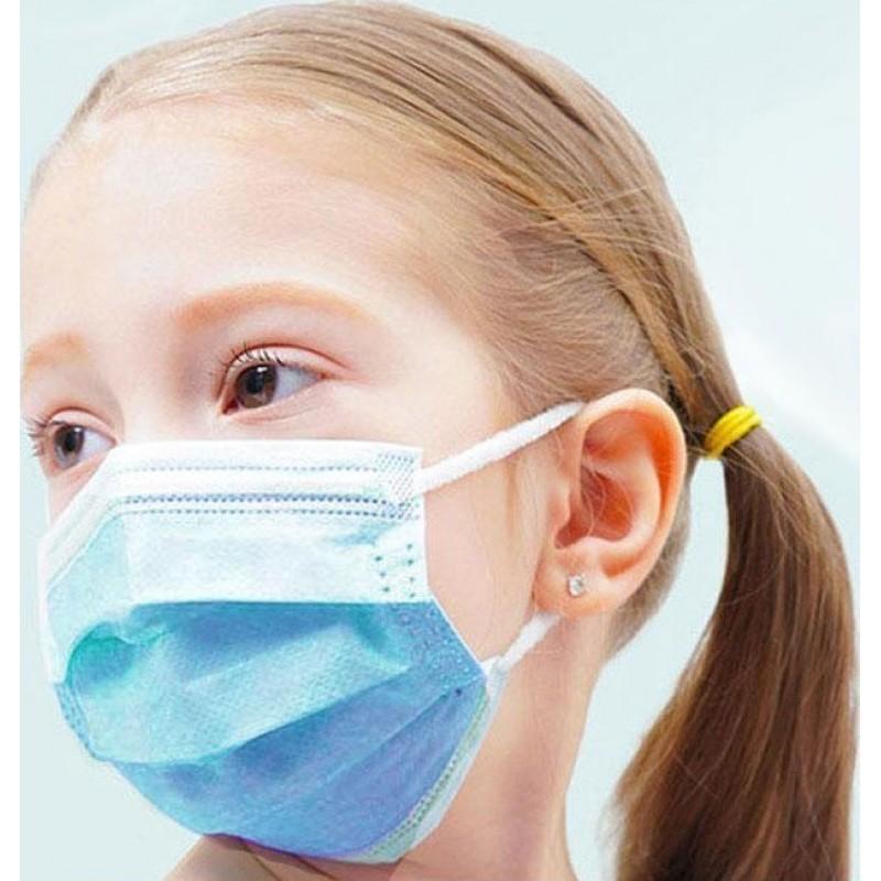 159,95 € 送料無料 | 1000個入りボックス 呼吸保護マスク 子供使い捨てマスク。呼吸保護。 3レイヤー。インフルエンザ対策。ソフト通気性。不織布素材。 PM2.5