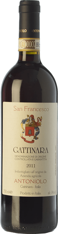 59,95 € Free Shipping | Red wine Antoniolo San Francesco D.O.C.G. Gattinara Piemonte Italy Nebbiolo Bottle 75 cl