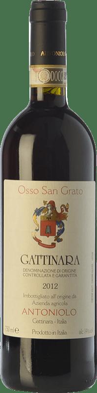 56,95 € Free Shipping | Red wine Antoniolo Osso San Grato D.O.C.G. Gattinara Piemonte Italy Nebbiolo Bottle 75 cl