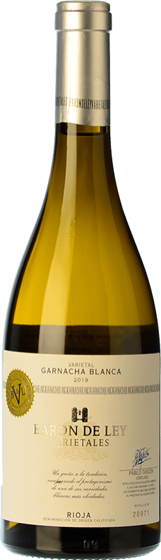 13,95 € Free Shipping | White wine Barón de Ley Varietales D.O.Ca. Rioja The Rioja Spain Grenache White Bottle 75 cl