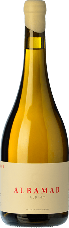 24,95 € Free Shipping | White wine Albamar Albino Crianza Spain Caíño Black Bottle 75 cl
