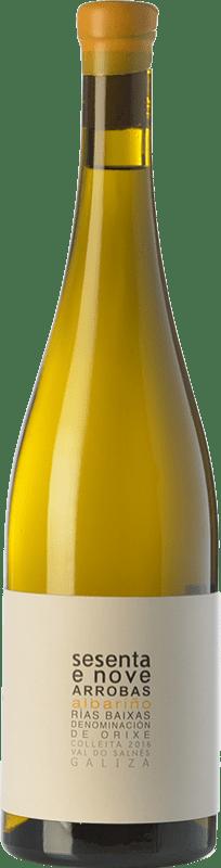 22,95 € Free Shipping | White wine Albamar 69 Crianza D.O. Rías Baixas Galicia Spain Albariño Bottle 75 cl