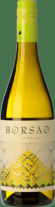 6,95 € Free Shipping | White wine Borsao Blanco Selección Crianza D.O. Campo de Borja Spain Macabeo, Chardonnay Bottle 75 cl