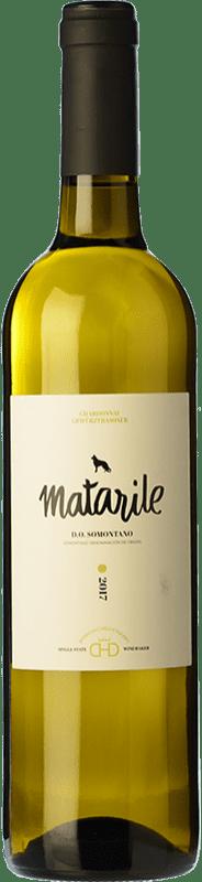 8,95 € Free Shipping   White wine Carlos Valero Heredad Matarile Chardonnay Gewürztraminer D.O. Somontano Catalonia Spain Chardonnay, Gewürztraminer Bottle 75 cl