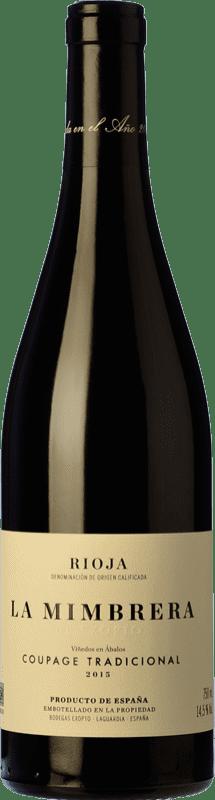 68,95 € Free Shipping | Red wine Exopto La Mimbrera Crianza D.O.Ca. Rioja The Rioja Spain Tempranillo, Grenache, Viura Bottle 75 cl