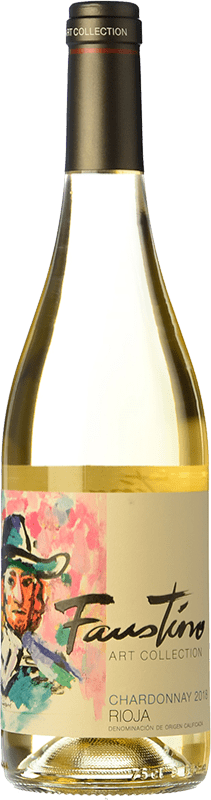 10,95 € Free Shipping   White wine Faustino Art Collection D.O.Ca. Rioja The Rioja Spain Chardonnay Bottle 75 cl