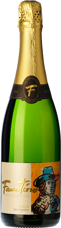10,95 € Free Shipping | White sparkling Faustino Art Collection Brut Reserva D.O. Cava Spain Macabeo, Chardonnay Bottle 75 cl