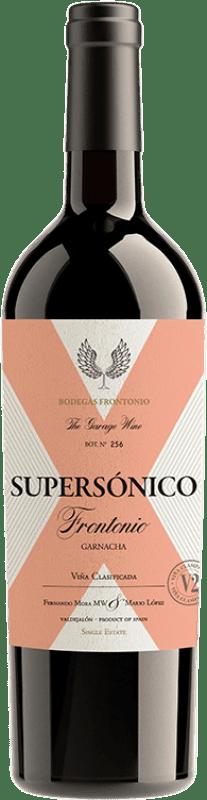 21,95 € Free Shipping | Red wine Frontonio Supersónico Roble I.G.P. Vino de la Tierra de Valdejalón Spain Grenache Bottle 75 cl