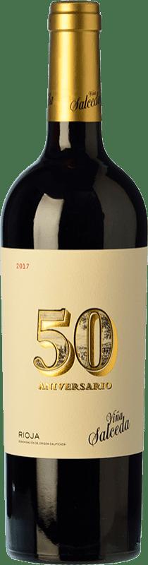 32,95 € Free Shipping   Red wine Viña Salceda 50 Aniversario Reserva D.O.Ca. Rioja The Rioja Spain Tempranillo Bottle 75 cl