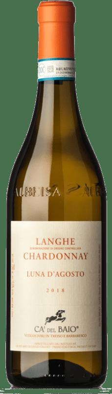 12,95 € Free Shipping | White wine Cà del Baio Luna d'Agosto D.O.C. Langhe Piemonte Italy Chardonnay Bottle 75 cl
