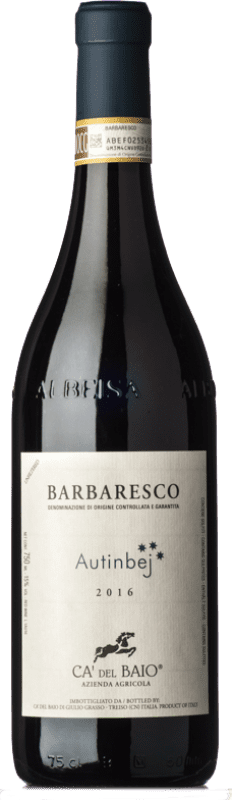 26,95 € Free Shipping | Red wine Cà del Baio Autinbej D.O.C.G. Barbaresco Piemonte Italy Nebbiolo Bottle 75 cl