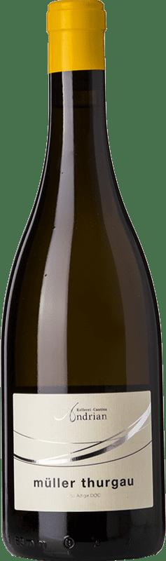12,95 € Free Shipping | White wine Andriano D.O.C. Alto Adige Trentino-Alto Adige Italy Müller-Thurgau Bottle 75 cl