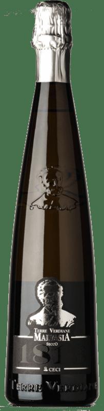 12,95 € Free Shipping | White sparkling Ceci Secco Frizzante Terre Verdiane 1813 I.G.T. Emilia Romagna Emilia-Romagna Italy Malvasia di Candia Aromatica Bottle 75 cl
