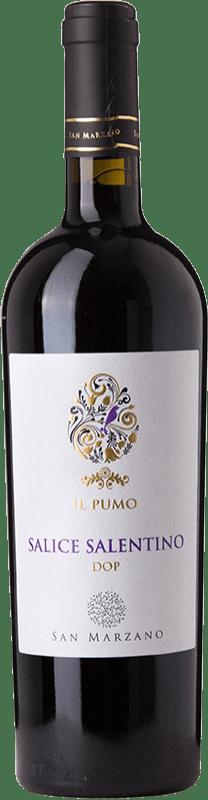 10,95 € Free Shipping | Red wine San Marzano Il Pumo D.O.C. Salice Salentino Puglia Italy Malvasia Black, Negroamaro Bottle 75 cl