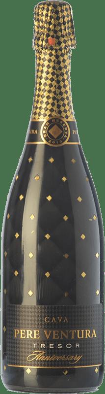 24,95 € Free Shipping | White sparkling Pere Ventura Tresor Aniversary Brut Gran Reserva D.O. Cava Spain Macabeo, Xarel·lo, Parellada Bottle 75 cl