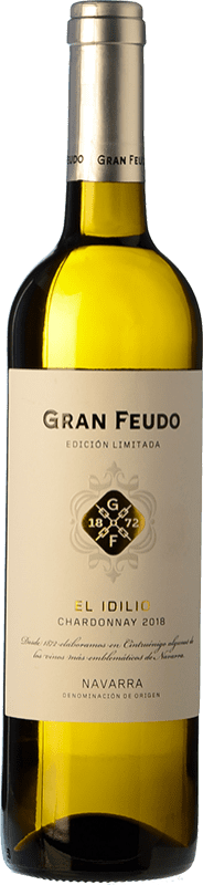 7,95 € Free Shipping | White wine Chivite Gran Feudo El Idilio blanco D.O. Navarra Navarre Spain Chardonnay Bottle 75 cl
