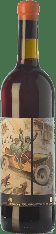 19,95 € Free Shipping | Red wine Clos Lentiscus Perill Noir Carinyena Crianza D.O. Penedès Catalonia Spain Carignan Bottle 75 cl
