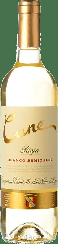 5,95 € Free Shipping | White wine Norte de España - CVNE Cune Semidulce D.O.Ca. Rioja The Rioja Spain Viura, Malvasía, Grenache White Bottle 75 cl