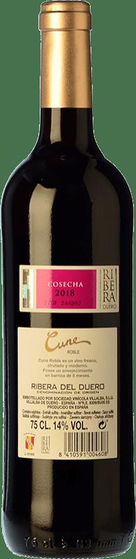 9,95 € Free Shipping | Red wine Norte de España - CVNE Cune Roble D.O. Ribera del Duero Castilla y León Spain Tempranillo Bottle 75 cl