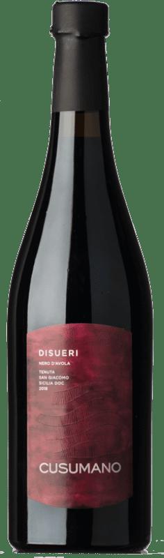 13,95 € Free Shipping | Red wine Cusumano Disueri D.O.C. Sicilia Sicily Italy Nero d'Avola Bottle 75 cl