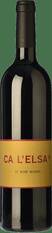 59,95 € Free Shipping | Red wine Eccociwine Ca l'Elsa Crianza Spain Cabernet Sauvignon, Cabernet Franc, Petit Verdot Bottle 75 cl