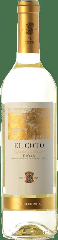 6,95 € Free Shipping | White wine Coto de Rioja Blanco Semidulce D.O.Ca. Rioja The Rioja Spain Chardonnay Bottle 75 cl