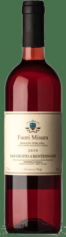 12,95 € Free Shipping | Rosé wine San Giusto a Rentennano Rosato Fuori Misura I.G.T. Toscana Tuscany Italy Merlot, Sangiovese, Canaiolo Bottle 75 cl