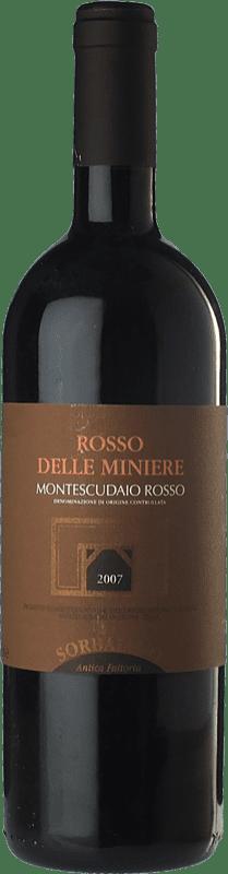 25,95 € Free Shipping   Red wine Sorbaiano Rosso delle Miniere D.O.C. Montescudaio Tuscany Italy Sangiovese, Cabernet Franc, Malvasia Black Bottle 75 cl