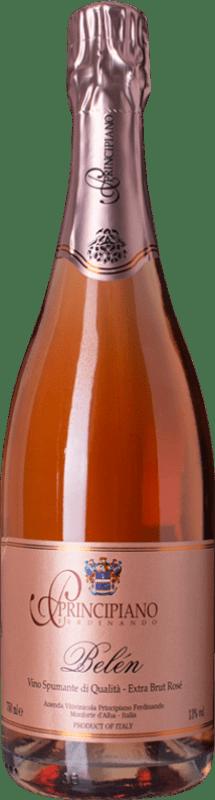 22,95 € Free Shipping   Rosé sparkling Ferdinando Principiano Belen Rosé Extra Brut D.O.C. Piedmont Piemonte Italy Barbera Bottle 75 cl