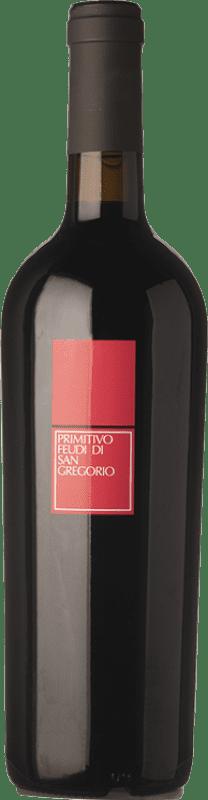 11,95 € Free Shipping | Red wine Feudi di San Gregorio D.O.C. Primitivo di Manduria Puglia Italy Primitivo Bottle 75 cl