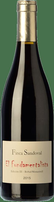 13,95 € Free Shipping | Red wine Finca Sandoval El Fundamentalista Crianza D.O. Manchuela Spain Monastrell, Bobal Bottle 75 cl