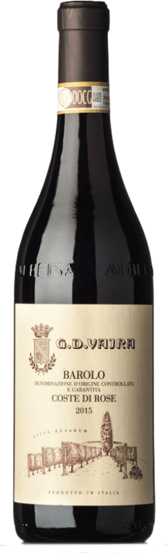 69,95 € Free Shipping | Red wine G.D. Vajra Coste di Rose D.O.C.G. Barolo Piemonte Italy Nebbiolo Bottle 75 cl