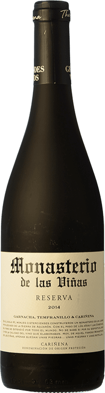 7,95 € Free Shipping   Red wine Grandes Vinos Monasterio de las Viñas Reserva D.O. Cariñena Spain Tempranillo, Grenache, Carignan Bottle 75 cl