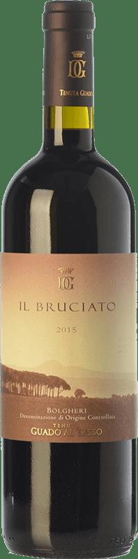 19,95 € Free Shipping | Red wine Guado al Tasso Il Bruciato D.O.C. Bolgheri Tuscany Italy Merlot, Syrah, Cabernet Sauvignon Magnum Bottle 1,5 L
