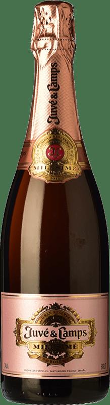 39,95 € Free Shipping | Rosé sparkling Juvé y Camps Millésimé Rosé Brut Gran Reserva D.O. Cava Spain Pinot Black Bottle 75 cl