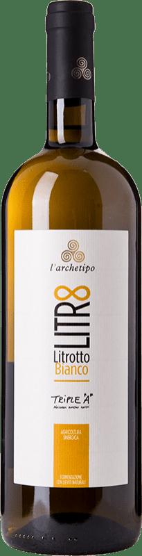 13,95 € Free Shipping | White wine L'Archetipo Litrotto Bianco I.G.T. Puglia Puglia Italy Fiano, Verdeca, Falanghina Missile Bottle 1 L