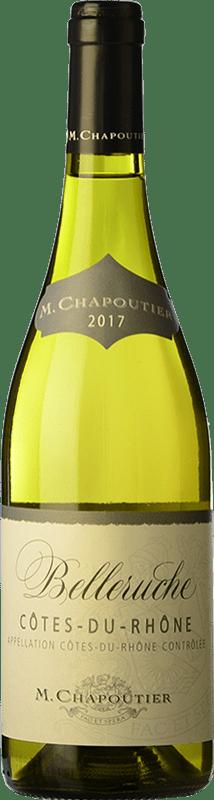 13,95 € Free Shipping | White wine Chapoutier Belleruche Blanc Crianza A.O.C. Côtes du Rhône Rhône France Grenache White, Roussanne, Viognier, Bourboulenc, Clairette Blanche Bottle 75 cl