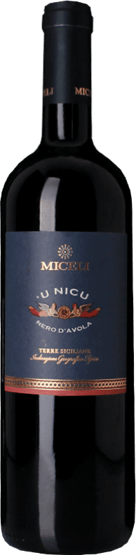 9,95 € Free Shipping | Red wine Miceli U Nicu I.G.T. Terre Siciliane Sicily Italy Nero d'Avola Bottle 75 cl