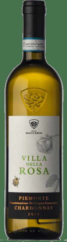 8,95 € Free Shipping | White wine Pico Maccario Villa della Rosa D.O.C. Piedmont Piemonte Italy Chardonnay Bottle 75 cl