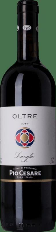 22,95 € Free Shipping | Red wine Pio Cesare Rosso Oltre D.O.C. Langhe Piemonte Italy Merlot, Cabernet Sauvignon, Petit Verdot, Nebbiolo, Barbera Bottle 75 cl