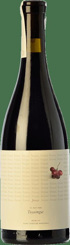 11,95 € Free Shipping   Red wine Tayaimgut Fresc Negre Crianza Spain Merlot Bottle 75 cl