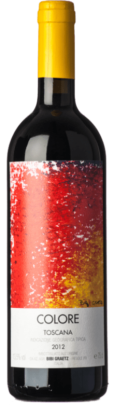 411,95 € Free Shipping   Red wine Bibi Graetz Rosso Colore I.G.T. Toscana Tuscany Italy Colorino, Canaiolo Bottle 75 cl