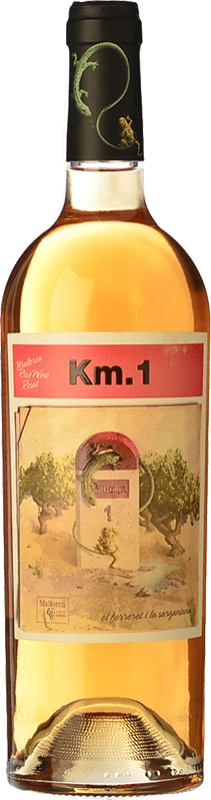 9,95 € Free Shipping | Rosé wine Tianna Negre Ses Nines Km. 1 Rosat I.G.P. Vi de la Terra de Mallorca Majorca Spain Callet Bottle 75 cl