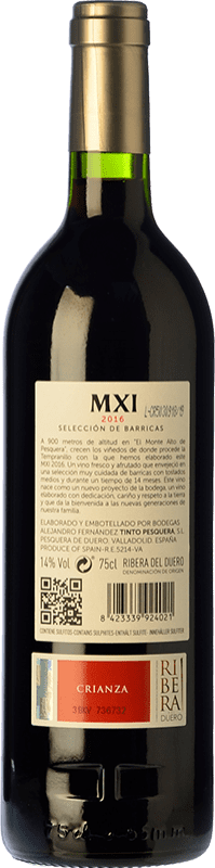 29,95 € Free Shipping   Red wine Pesquera MXI Crianza D.O. Ribera del Duero Castilla y León Spain Tempranillo Bottle 75 cl