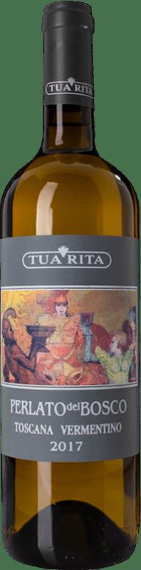 17,95 € Free Shipping | White wine Tua Rita Perlato del Bosco Bianco I.G.T. Toscana Tuscany Italy Vermentino Bottle 75 cl