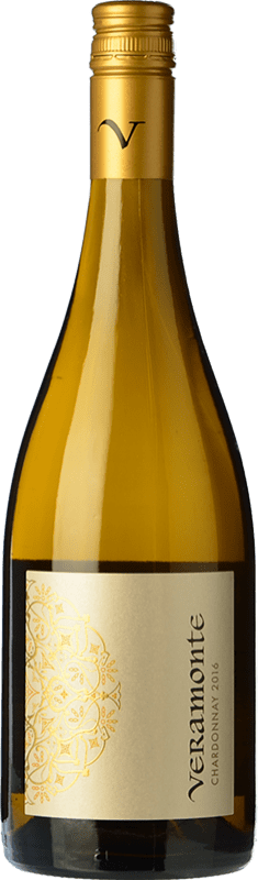 11,95 € Free Shipping | White wine Veramonte Crianza I.G. Valle de Casablanca Valley of Casablanca Chile Chardonnay Bottle 75 cl