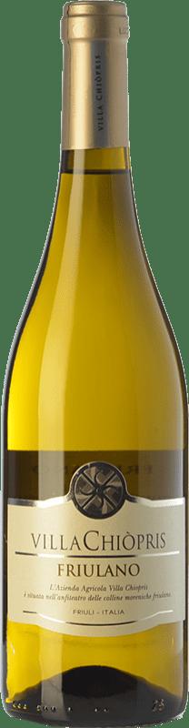 7,95 € Free Shipping | White wine Villa Chiòpris D.O.C. Friuli Grave Friuli-Venezia Giulia Italy Friulano Bottle 75 cl