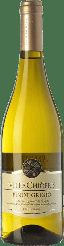 8,95 € Free Shipping | White wine Villa Chiòpris D.O.C. Friuli Grave Friuli-Venezia Giulia Italy Pinot Grey Bottle 75 cl
