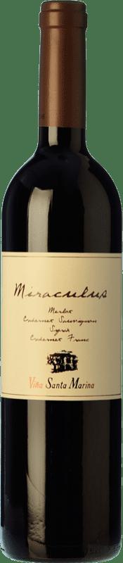 23,95 € Free Shipping | Red wine Santa Marina Miráculus Reserva I.G.P. Vino de la Tierra de Extremadura Estremadura Spain Merlot, Syrah, Cabernet Sauvignon, Cabernet Franc, Petit Verdot Bottle 75 cl