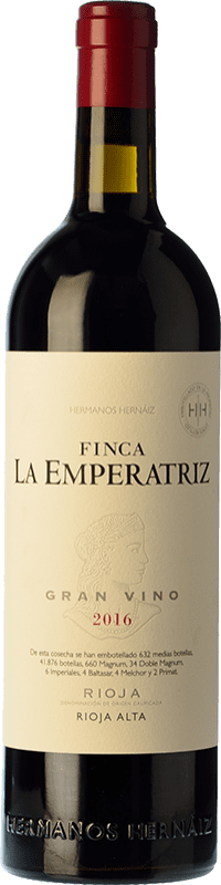 34,95 € Free Shipping | Red wine Hernáiz Finca La Emperatriz Gran Vino Tinto Reserva D.O.Ca. Rioja The Rioja Spain Tempranillo, Grenache, Viura Bottle 75 cl